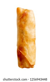 Deep fried spring roll isolated on white background.