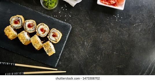 Imágenes, fotos de stock y vectores sobre Tempura Sushi