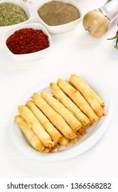 Deep Fried Turkish Cigar Shaped Rolls - Spring roll Sigara Borek
