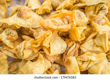 Deep fried wonton, or dumpling, to served with plum sauce
