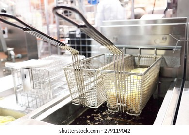 Deep fryer with french fries