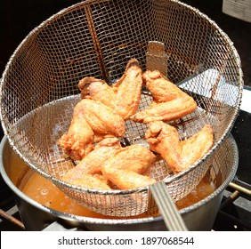 Deep Frying Buffalo Chicken Wings for the Big Game
