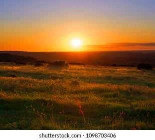 Deep HDR Sunset Landscape
