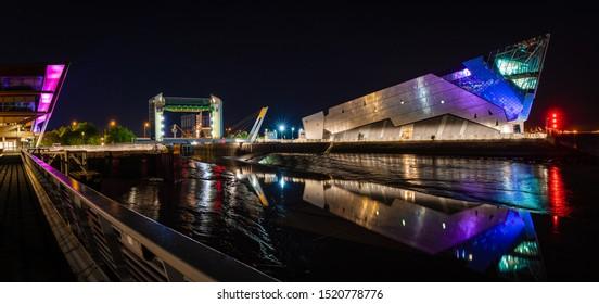 The Deep, Hull, Night time shot. Photo taken 03/10/2019