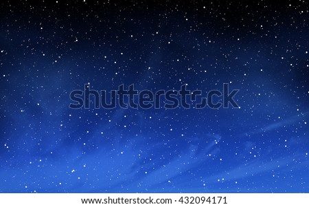 Deep night sky with many stars background