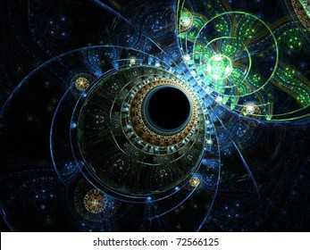 Deep ocean water, fractal abstraction