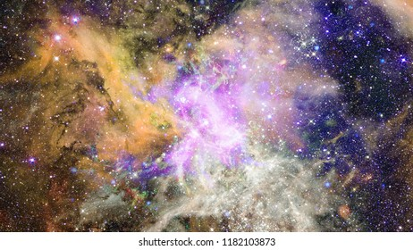 Deep outer space background with stars and nebula. Elements of this image furnished by NASA.