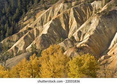 deep ravines