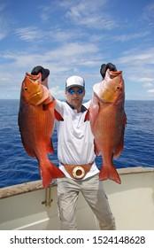 Deep sea fishing, catch of fish, big game fishing, boat fishing, sea fishing.