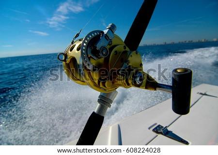 Deep Sea Fishing Rod Reel Boat Stock Photo (Edit Now) 608224028 ... b1b5c18bd
