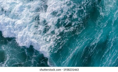 Deep Sea Foam Crashing Near the Shore