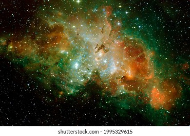 Deep space. Awesome science fiction render. Elements of this image furnished by NASA.