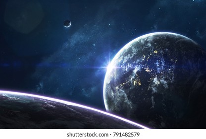 Deep space, beauty of endless cosmos. Science fiction wallpaper. Elements of this image furnished