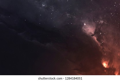 Deep space, cosmic landscape. Starfield. Nebula. Awesome science fiction render. Elements of this image furnished by NASA