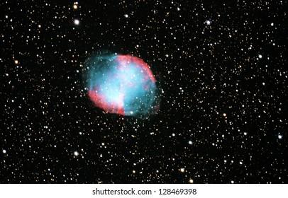 Deep Space Dumbbell Nebula