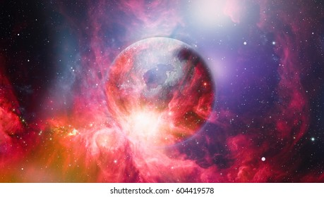 deep space many light years far from the Earth. Elements of this image furnished by NASA
