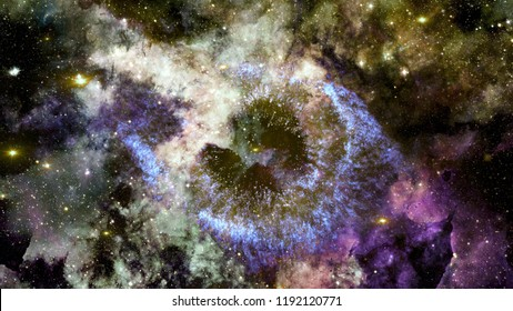 Deep space multicolor nebula stars and galaxies. Elements of this image furnished by NASA.