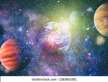 SOLAR SYSTEM FANTASY-Planets Stars Black Hole Sun Space Science Astronomy shirt