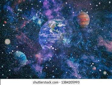 Deep space. Science fiction fantasy in high resolution ideal for wallpaper. Elements of this image furnished by NASA