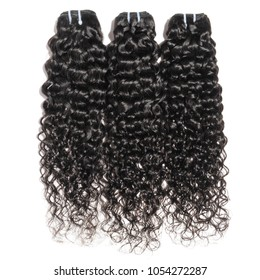Deep wave curly black human hair weaves extensions bundles