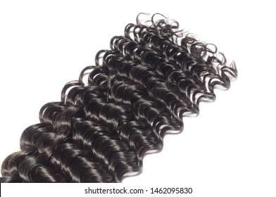 deep wave curly black human hair weaves extensions bundles