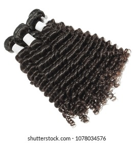 deep wave kinky curly black human hair weaves extensions bundles