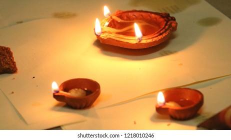 Deepak, Lamp. Diwali Decoration by Diyas.