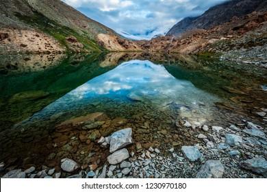 Deepak Tal lake. En route to Baralacha La pass, Lahaul valley, Himachal Pradesh, India