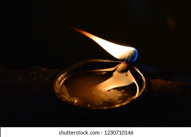 Deepam with fire on the occasion of Karthigai deepam
