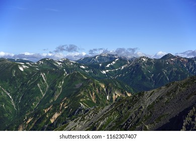 "The deepest part of the Japanese Alps ""Kurobe"", a view from the ridgeline of Yatsugatake western ridgeline, Japan"