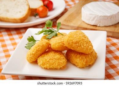 Deep-fried Camembert Cheese
