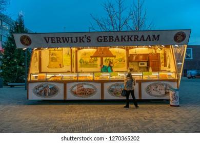 Deep-Fried Dough Ball Stand At Diemen The Netherlands 2018