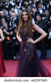 Deepika Padukone attends the 'Ismael's Ghosts (Les Fantomes d'Ismael)' screening and Opening Gala during the 70th annual Cannes Film Festival at Palais des Festivals on May 17, 2017 in Cannes, France.