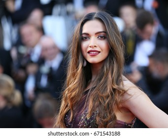 Deepika Padukone attends the 'Ismael's Ghosts (Les Fantomes d'Ismael)' screening and Opening Gala during the 70th Cannes Film Festival at Palais des Festivals on May 17, 2017 in Cannes; France.