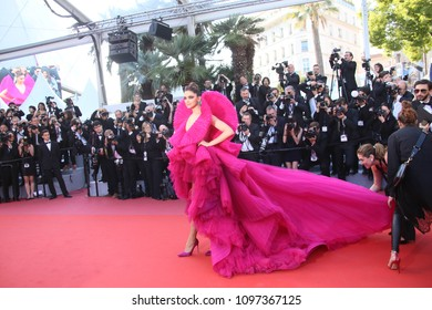 Deepika Padukone attends the screening of  'Ash Is Purest White (Jiang Hu Er Nv)' during the 71st  Cannes Film Festival at Palais on May 11, 2018 in Cannes, France.