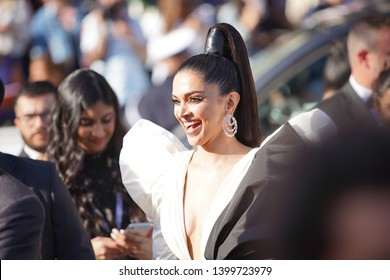 "Deepika Padukone attends the screening of  ""Rocket Man"" during the 72nd  Cannes Film Festival on May 16, 2019 in Cannes, France."