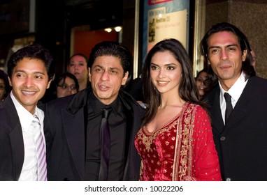 Deepika Padukone, Shah Rukh Khan, Deepika Padukone and Arjun Rampal at the Bollywood Film premiere of Om Shanti Om in London