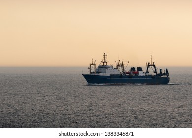 A deep-sea trawler of deep-sea fishing