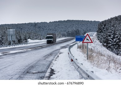 Deer can come out, winter roads