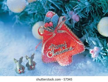 deer and christmas tree