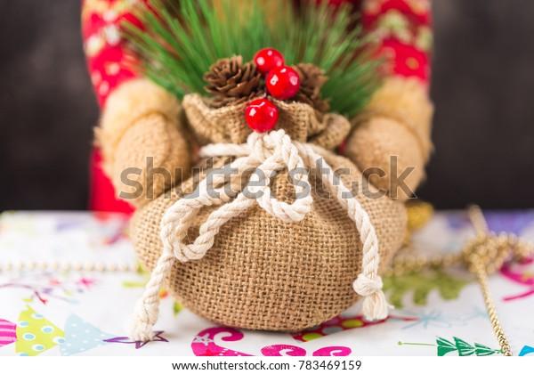 deer hands take Christmas presents