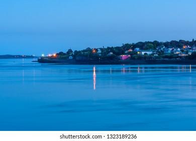 Deer Island Point on Deer island after sunset, New Brunswick Atlantic coast, Canada