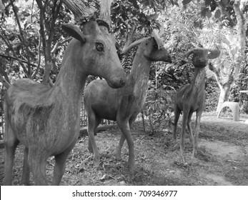 Deer made of wood