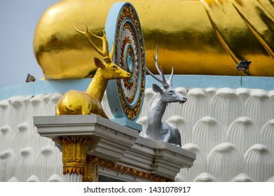 Deer statue at a temple