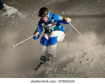 DEER VALLEY, UT - Feb 4-6: Ali Kariotis at the VISA FREESTYLE SKI World Cup in Deer Valley, UT on February 06, 2016
