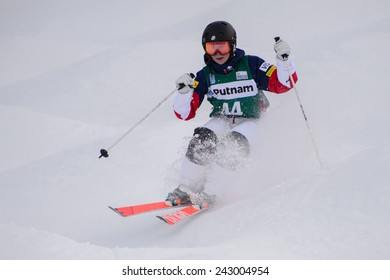DEER VALLEY, UT - January 09:  Nessa Dziemian at the FIS VISA FREESTYLE World Cup Moguls Women in Deer Valley, UT on January 09, 2015