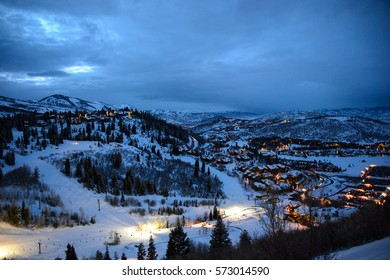 DEER VALLEY, UT: The town of Deer Valley, UT hosting the FIS Freestyle World Cup Moguls competition in Deer Valley, UT on February 02, 2017