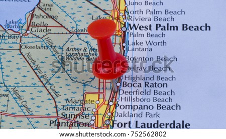 Map Of Broward County Florida.Deerfield Beach Florida Broward County United Stock Photo Edit Now