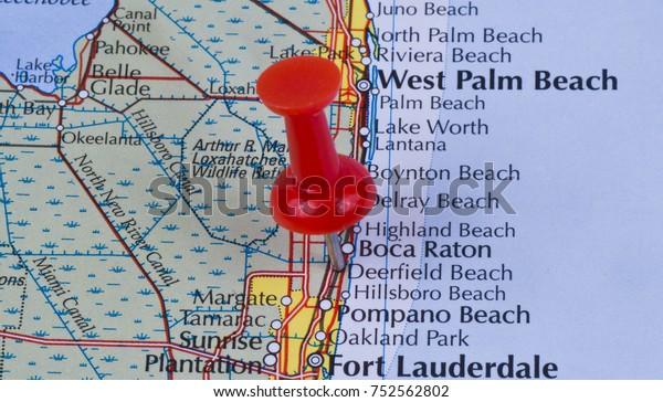 Deerfield Beach Florida Broward County United Stock Photo (Edit Now on