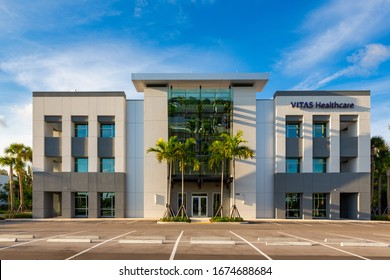 Deerfield Beach, Florida/USA - March 16, 2020: VITAS Healthcare Hospice in Deerfield Beach, Florida, United States. Hospice Innovation, Vision, Technology and Expertise.